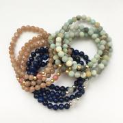 Sluneční kámen, lapis lazuli, amazonit
